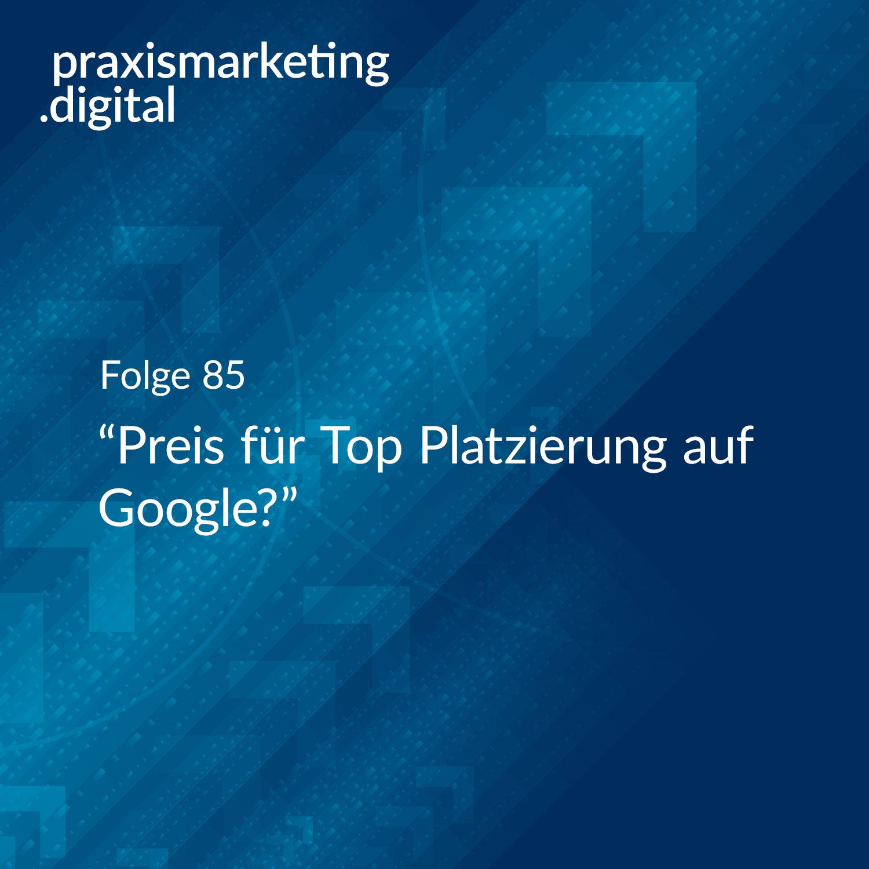 Google Top Platzierung Preis